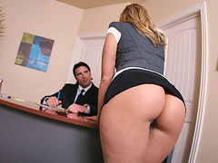 Big Ass Blond Babe Anal Sex In The Office