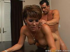 Horny Milf Kayla Synz Gets A Pounding After A Business Meeting