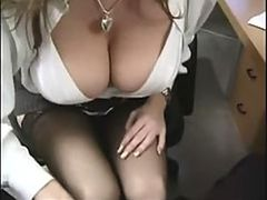 Gorgeous Office Slut With Big Jugs Sucks Cock and Then Gets Fucked