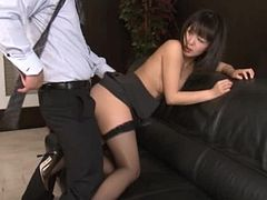 Asian Secretary Getting Fucked In The Office By Her Bosses