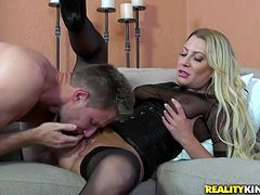 Hot-ass fuckin' milf sucks dick and gets nailed