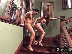 Sunny Jay Housewife Fucked Stairs