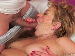 Regular client fucks old twat of trashy looking mature whore Malya