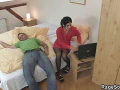Brutal blowjob and rough sex for cheating bitch