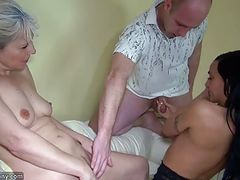 OldNanny Old lady with pretty girl masturbating and fucking