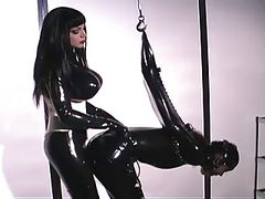 Anastasia  Gets Wild While Wearing Latex