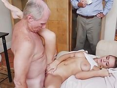 old man with perfect young blonde 2