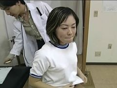 Rie's medical examination turns into the wild pussy penetration
