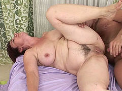 Old flaccid pussy got harshly attacked by horny rapid stud