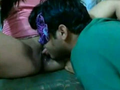 Adorable and delicious busty Indian girl licked in front of webcam