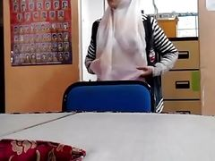 hijab tits flashing