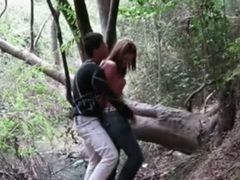 Amazing outdoor video with me fucking my GF in the woods