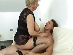 Hot Granny With Big Tits Fucked