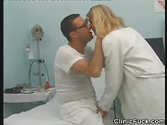 Doctor Fingers Her Patient