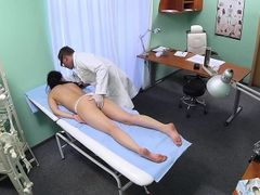 Naughty medical massage on hospital spycam