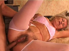 Spoiled grannie gets her anus fucked hard and deep