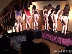 Pretty Japanese Babes Do A Provocative Show For Horny Men
