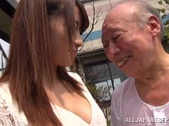 japanese bitch gets pounded hardcore in old vs young action