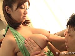 Sizzling Japanese Girl With Big Natural Tits Enjoying A Hardcore Doggy Style Fuck