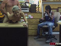 Hardcore reality pounding scene with depraved short-haired milf