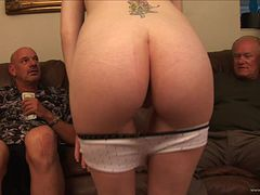 Hot Teen Screwed Hard In An Old vs Young Threesome For Money