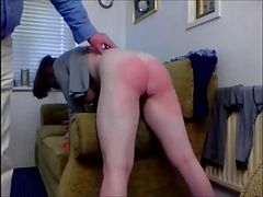 Naughty Redhead girl I know being spanked