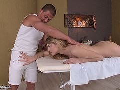 Lana is once again ready to get drilled right after the massage