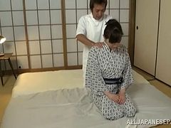 Her deep tissue massage ends with his dick deep inside her