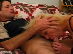 Blond cougar gets anal