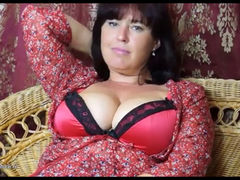 Hairy mature janey masturbating herself