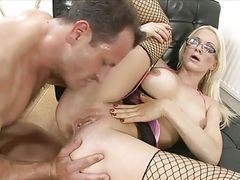 Fucks Blonde and Cumshots in ass