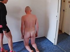 Slave of Miss Annabelle spanked for disobedience