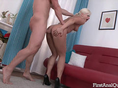 First Time Anal Sex With the Beautiful Angel Lauren