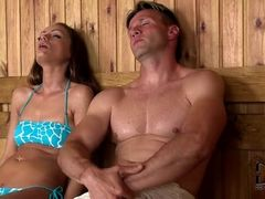 Teens Banged In Sauna   Lina Napoli And Sophie Lynx