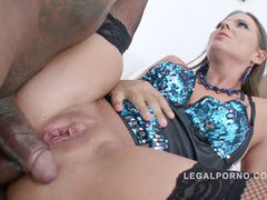 Simony Diamond interracial double anal