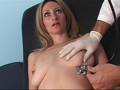 Jeyden Raine with natural tits enjoys being slammed by a doctor in uniform