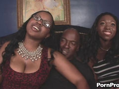 ebony & laylani starr share a big black cock