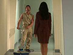 Office slut India Summer gets horny for sexy janitor