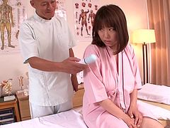 Big Titted Rin Aoki Gets Her Tits And Pussy Massaged