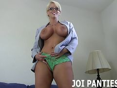 Let me rub my silk panties against your throbbing cock JOI