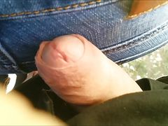 My dick touch big ass milf in jeans