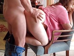 mature wife lets hubby take her through the backdoor