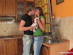 A lonely girl hires a handyman and has him pound her ass