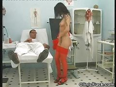 Tattooed Patient Rides On Doctors Cock