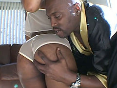 This ebony hottie is pure sex and she blows like a ravenous vampire