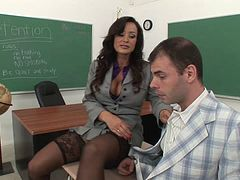 Horny hot ass teachers fuck hardcore in the classroom