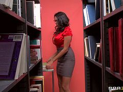 Naughty Brunette Hottie Missy Martinez Gets Banged In The Library