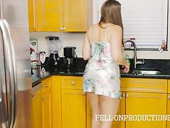 Stepmom MILF in Satin Nighty Fucking