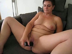 I love to fuck my sweet pink pussy with my big black dildo