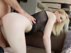 Blonde Alice gets her pussy fucked hard before creampie